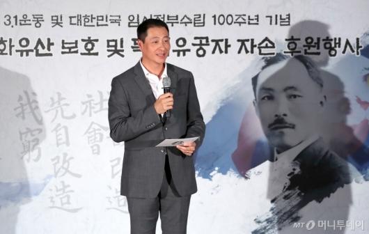 [사진]인사말하는 송호섭 스타벅스 코리아 대표