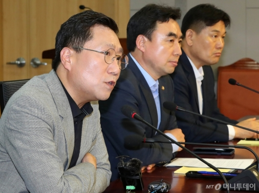 [사진]발언하는 양정철 민주연구원장
