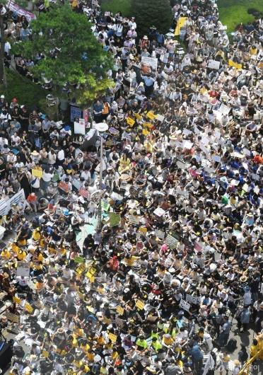[사진]거리 가득 메운 수요집회 인파