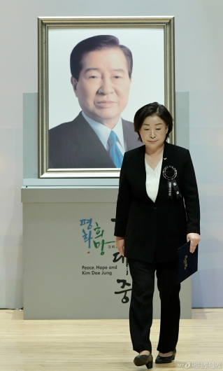 [사진]DJ 서거 10주기 추도식 참석한 심상정 대표