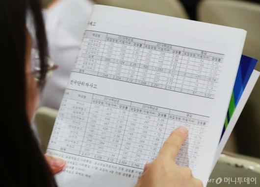 [사진]'숫자로 보는 고교선택전략'
