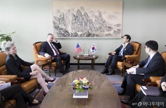 [사진]한·미 북핵 수석대표 협의