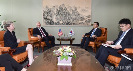 [사진]한-미 북핵 수석대표 협의