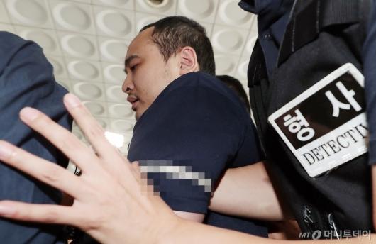 [사진]'시신훼손 한강유기' 조사받는 장대호