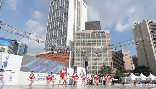 [사진]서울광장서 열린 '서울국제치어리딩스포츠대회'