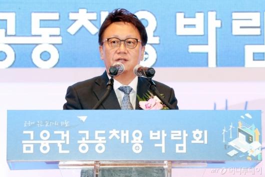 [사진]축사하는 민병두 국회 정무위원장