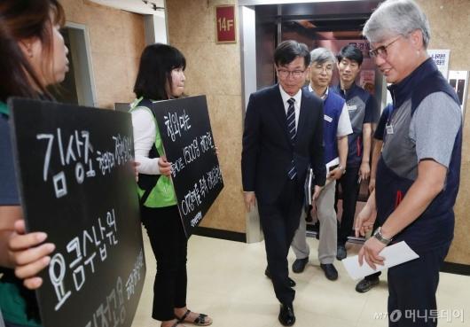 [사진]민주노총 찾은 김상조 청와대 정책실장