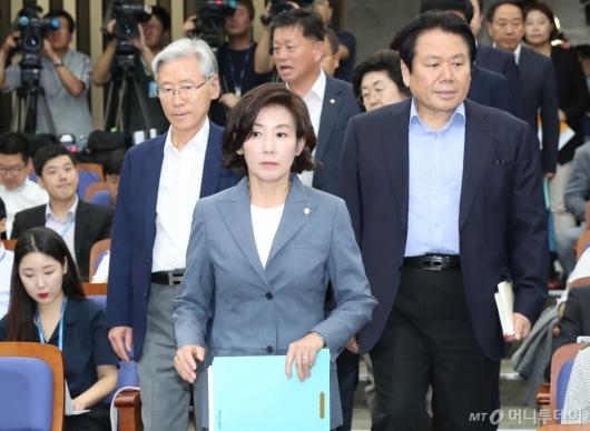 [사진]자유한국당, 굳은 얼굴