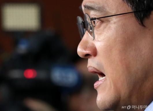 [사진]오신환, 조국 청문회 관련 기자회견