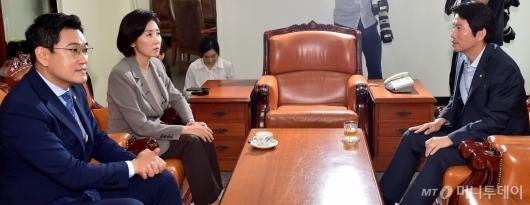 [사진]조국 후보자 청문회 관련 여야3당 원내대표 회동