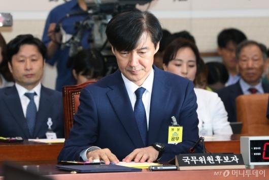 [사진]인사청문회 출석한 조국 법무부 장관 후보자