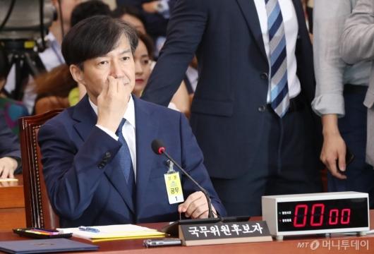 [사진]청문회 출석한 조국 후보자