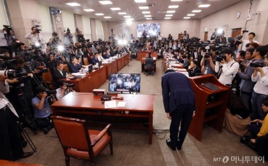 [사진]조국 법무부 장관 후보자 인사청문회