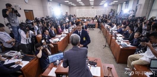 [사진]조국 법무부 장관 후보 인사청문회