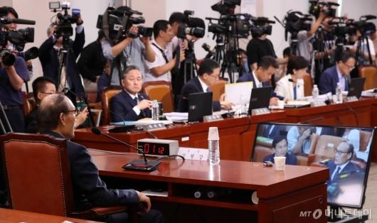 [사진]조국 청문회 증인 출석한 김형갑 이사