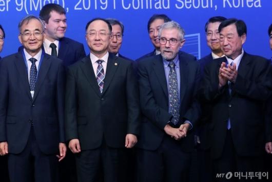 [사진]홍남기-폴 크루그먼 '2019 KSP 성과공유 컨퍼런스'