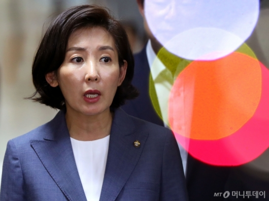 [사진]조국 장관 임명 관련 발언하는 나경원