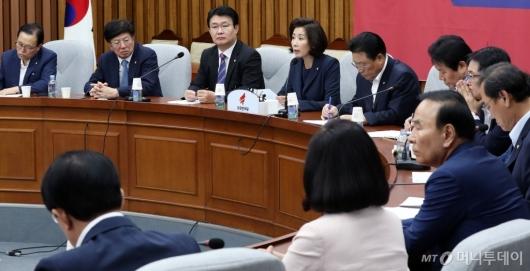 [사진]자유한국당, 심각한 분위기