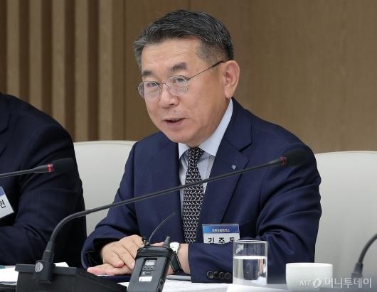 [사진]김준동 대한상의 상근부회장 '해외 M&A·투자 협의체 협약식' 인사말