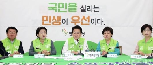 [사진]정동영, 조국 임명 관련 브리핑