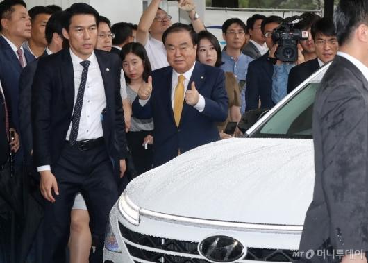 [사진]문희상, 수소자동차 최고
