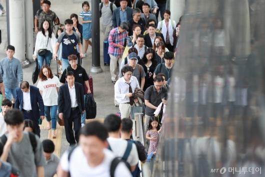 [사진]서울역 도착한 귀경객들