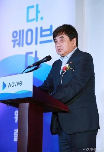 [사진]한상혁 방통위원장, 통합 OTT '웨이브' 출범식 참석