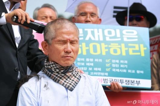 [사진]삭발한 김문수