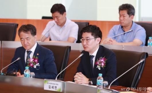 [사진]김세연 복지위원장, 보건의료 빅데이터 플랫폼 개통식 참석