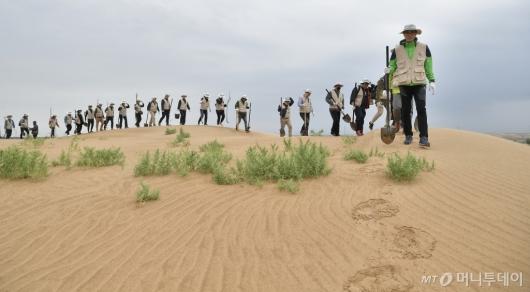 [사진]대한항공, 동북아시아 황사 방지를 위한 식림 프로젝트