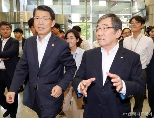 [사진]금감원장 만난 금융위원장