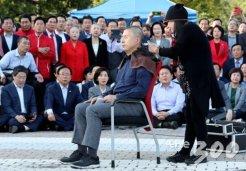 순식간에 20명 깎은 후…<br>'삭발' 말리는 한국당
