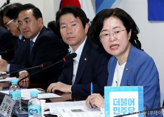 [사진]당정청 을지로 민생현안회의 발언하는 조성욱