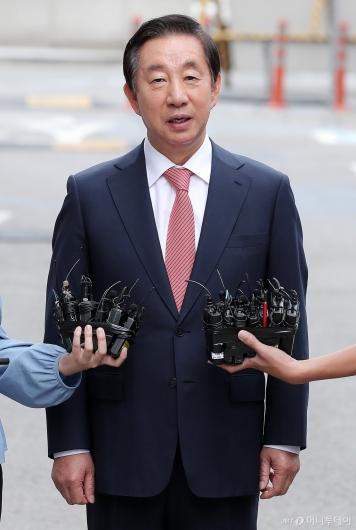 [사진]김성태 '딸 채용 특혜 혐의' 공판 출석