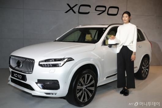 [사진]볼보 'XC90' 소개하는 김연경
