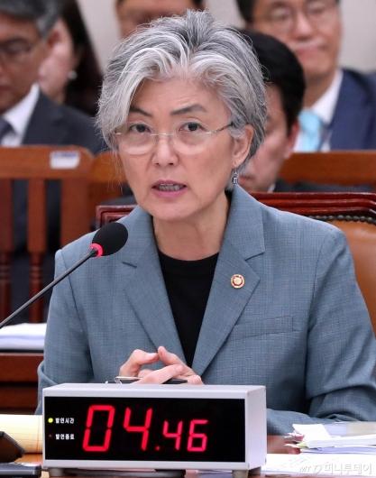 [사진]국감 답변하는 강경화 장관