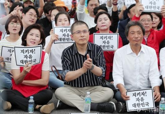 [사진]광화문 집회 참석한 이학재 의원