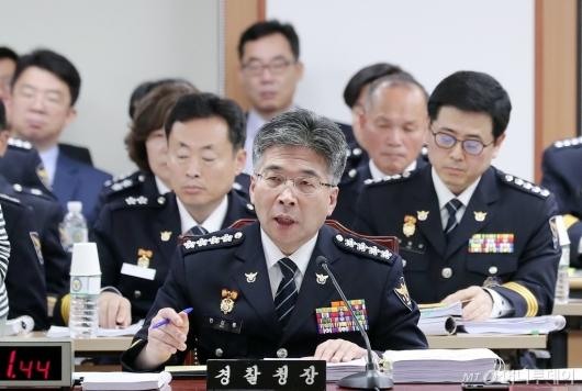 [사진]답변하는 민갑룡 경찰청장