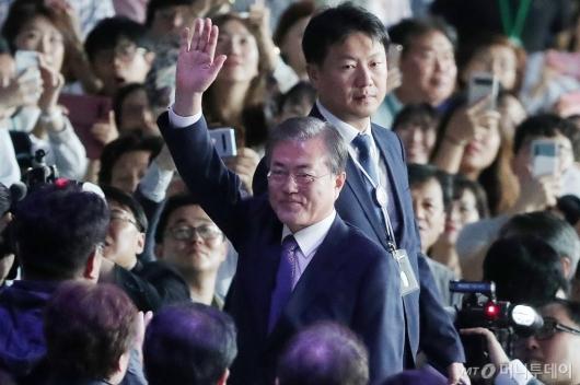 [사진]문재인 대통령 '전국체전 개회식 참석'