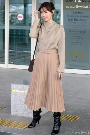 [사진]김소연 '가울과 어울리는 공항패션'