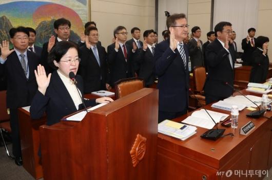 [사진]선서하는 조성욱 공정거래위원장