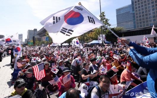[사진]광화문서 '조국 규탄' 집회