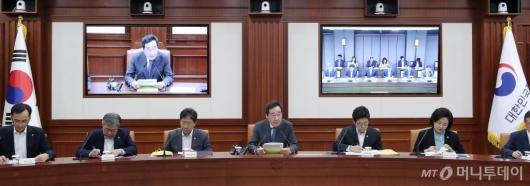 [사진]이낙연 총리 '국정현안점검조정회의 주재'