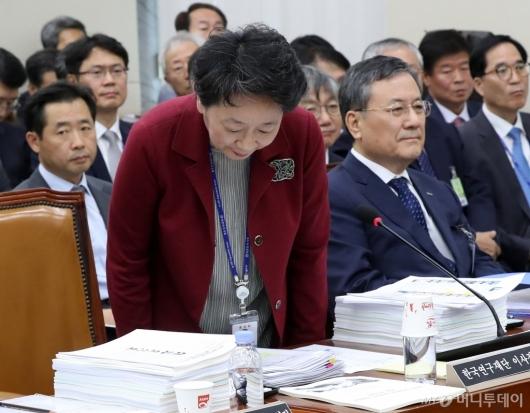 [사진]국감 출석한 한국연구재단 이사장