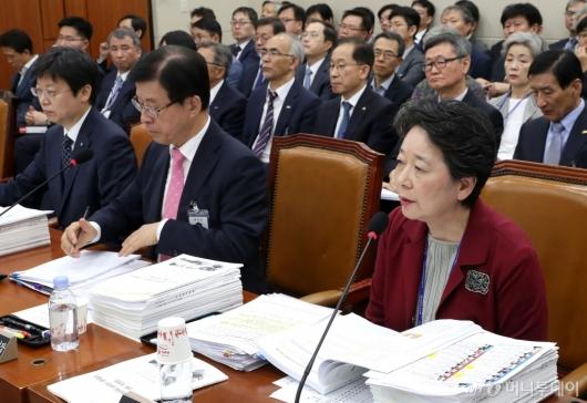 [사진]국감 질의 답변하는 한국연구재단 이사장