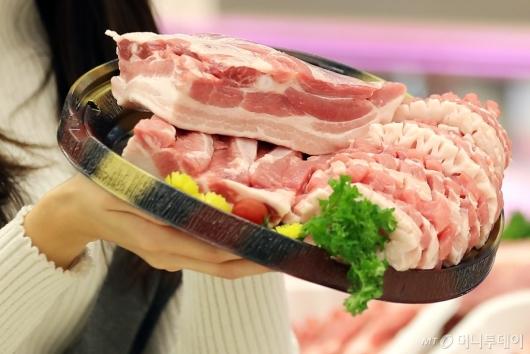 [사진]돼지고기 도매가 하락