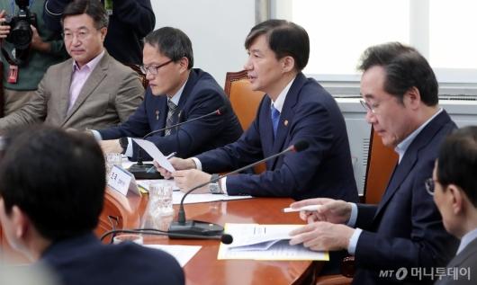 [사진]'검찰개혁 고위당정협의회' 참석한 조국 장관