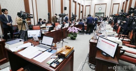 [사진]법사위 국감 '정회'