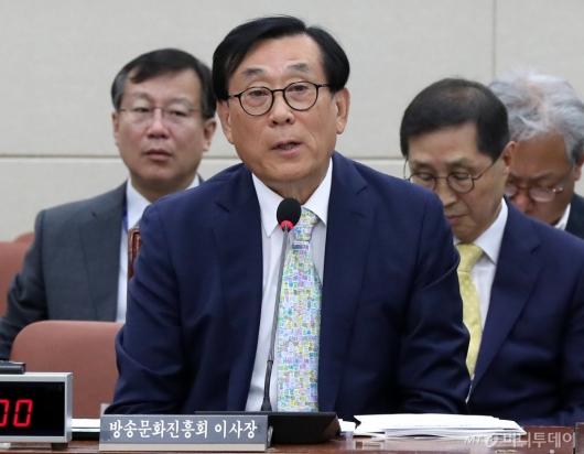 [사진]국감 출석한 김상균 이사장