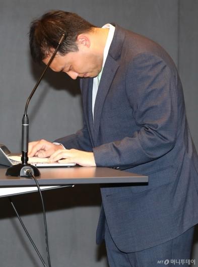 [사진]고개 숙인 원종준 라임자산운용 대표